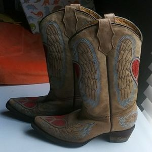 Other - Corral Teens Heart Angel Wing Cowgirl Boots